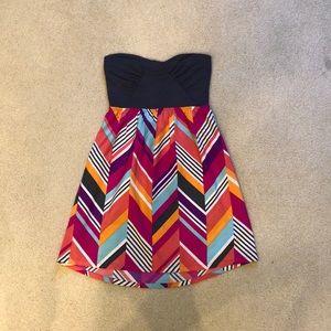 Roxy strapless tube top summer dress